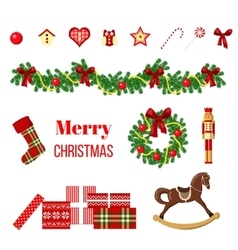 big christmas set vector image vector image