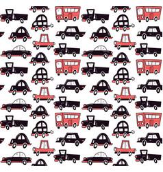 monochrome cars vector image