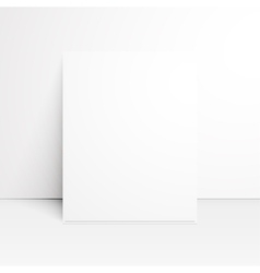 White paper blank with shadow vector image