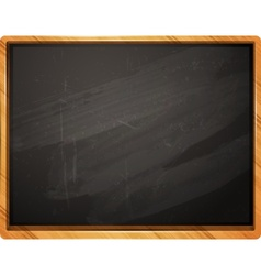 Classic school chalkboard vector image vector image