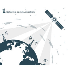 satellite communication 2 vector image vector image
