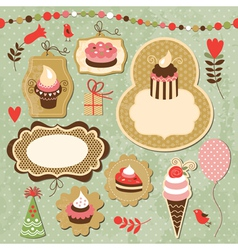 Set of Holiday elements vector image