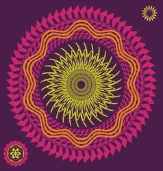 spring meditation flower vector image vector image