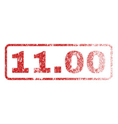 1100 rubber stamp vector image