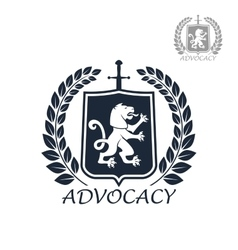 Advocacy isolated icon or emblem vector