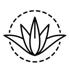 aloe vera plant icon outline style vector image