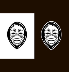 Anonymous in antiviral mask vector