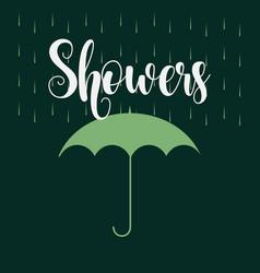 April showers template design vector