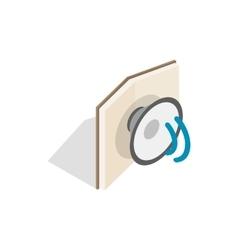 Audiobook icon isometric 3d style vector