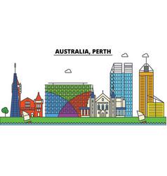 Australia perth city skyline architecture vector
