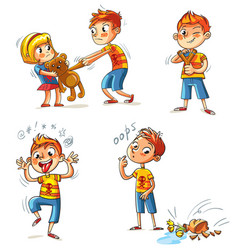 bad behavior funny cartoon character vector image