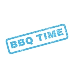 BBQ Time Rubber Stamp vector image vector image