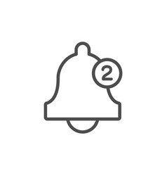 Bell line icon with counter call numbers vector