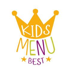 Best kids food cafe special menu for children vector