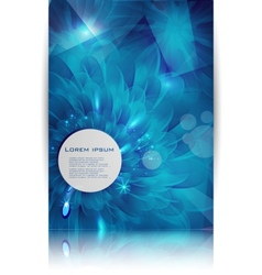 Blue flower card abstract water vector