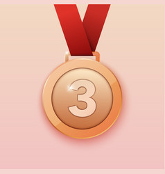 Bronze medal for third prize vector
