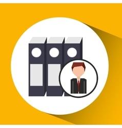 Businessman character folder file concept vector