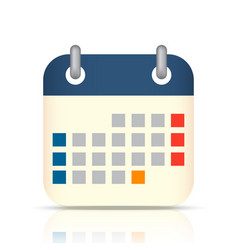 calendar flat icon eps10 vector image