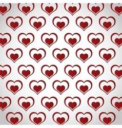 Cartoon heart love image vector