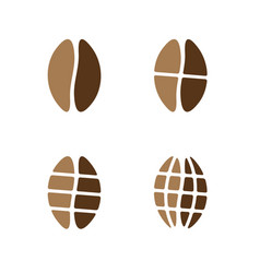 Coffee beans grinded on different sizes vector