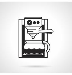Coffee machine black icon vector image
