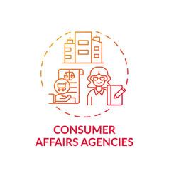 Consumer affairs agencies concept icon vector