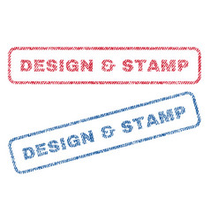 Design stamp textile stamps vector