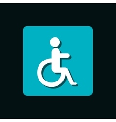 disable person signal isolated icon vector image