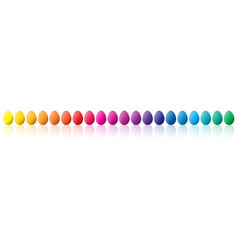 easter eggs spectrum colors vector image