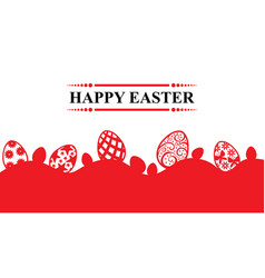 Easter greeting banner vector