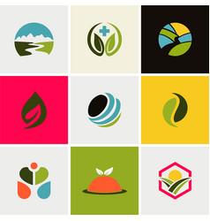 ecology environment logos vector image