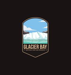 Emblem patch logo glacier bay national park vector