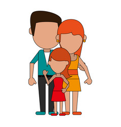 faceless mother and child cartoon vector image