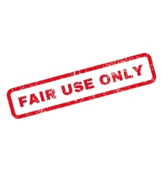 Fair Use Only Text Rubber Stamp vector