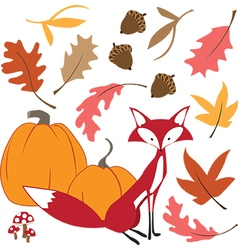 Fall Fox vector