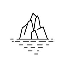 flat linear iceberg vector image