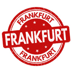 frankfurt sign or stamp vector image