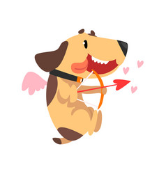 funny jack russell terrier dog with wings and vector image