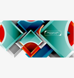 Geometrical 3d shapes background vector