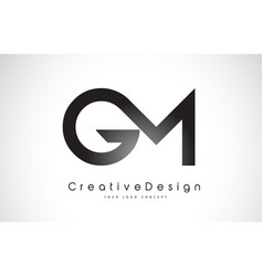 Gm g m letter logo design creative icon modern vector