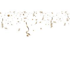 Golden confetti isolated vector