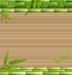 Green bamboo grass on brown vector