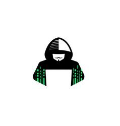 Hacker logo vector