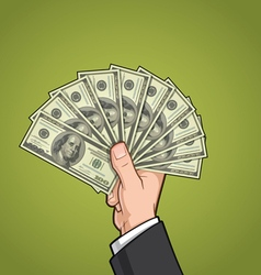 Hands Showing Money 2 vector image