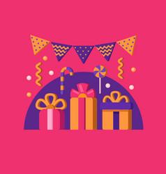 happy birthday banner vector image