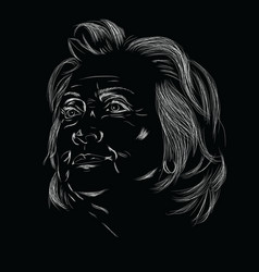 Hillary Clinton lineart vector image