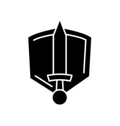 History epic black glyph icon common movie genre vector