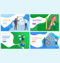international business network of businessman vector image