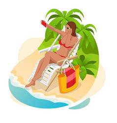 it s summer time banner summer luxury vacation vector image