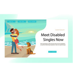landing page for relationships of disabled people vector image